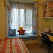 简约清新风格儿童房窗户装饰
