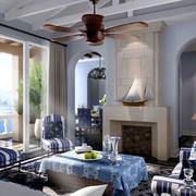 地中海简约风格室内客厅装饰
