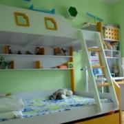 简约风格儿童房双层床饰装饰