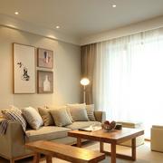 100平米房屋简约风格客厅飘窗装饰