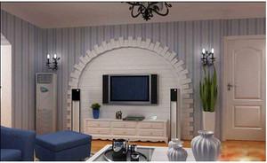 120平米地中海客厅电视背景墙效果图