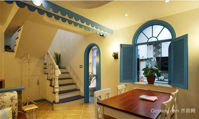 地中海风格跃层室内装潢设计效果图