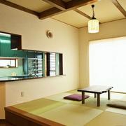 日式原木浅色榻榻米装饰