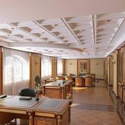 欧式密集式办公室吊顶装饰