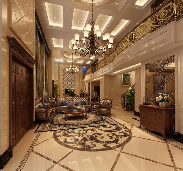 欧式 中空 别墅客厅 装修效果图 装修效果图