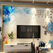中式山水画电视背景墙效果图