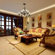 美式简约风格客厅沙发背景墙装饰