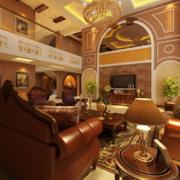 欧式奢华风格客厅皮制沙发装饰