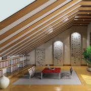 日式简约风格阁楼吊顶装饰
