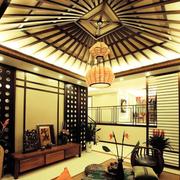 东南亚风格简约客厅吊顶装饰