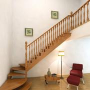 日式简约风格原木楼梯装饰