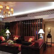 100平米房屋中式客厅飘窗装饰