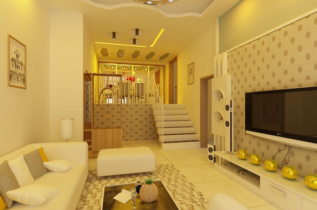 90平米大户型欧式客厅石膏线造型电视墙