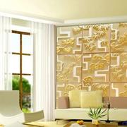 欧式奢华风格办公背景墙效果图