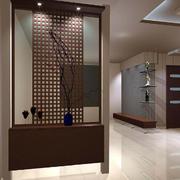 中式风格深色系玄关装饰