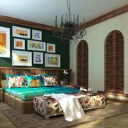 东南亚风格卧室床头背景墙装饰