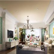 100平米房屋客厅沙发背景墙装饰