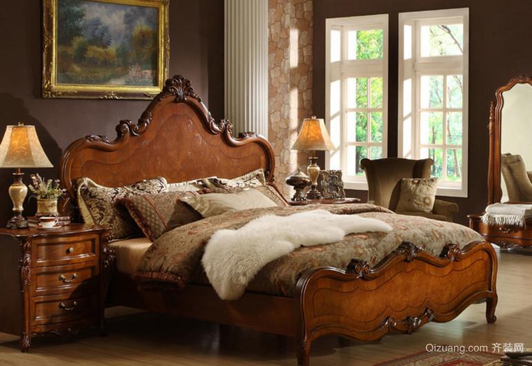 稳重大方的美式卧室壁纸装修效果图鉴赏