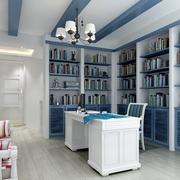 精致地中海书房装修