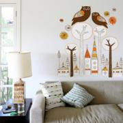 混搭风格客厅沙发墙贴装饰