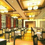 中式奢华餐厅吊顶装饰