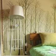 复式简约风格清新房间床头背景墙