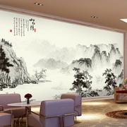中式简约现代化餐厅背景墙设计