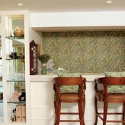 家庭客厅吧台装饰效果图