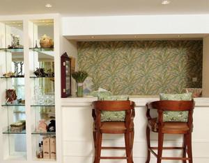 温馨田园风格的家庭吧台设计装修效果图鉴赏