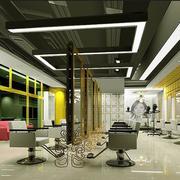 后现代风格理发店创意吊顶装饰