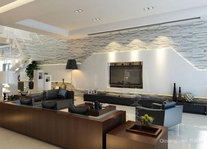 宜家客厅茶几电视柜装修设计效果图