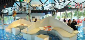 后现代风格创意餐厅桌椅装饰
