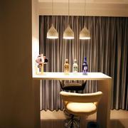 复式楼简约风格客厅吧台装饰