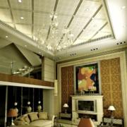 美式风格石膏板密集式天花板吊顶装饰