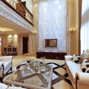 欧式奢华风格洋房客厅效果图