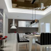 现代化简约餐厅吊顶装饰
