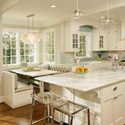 美式开放式厨房吧台装饰