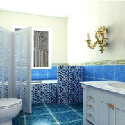 地中海风格卫生间推拉门装饰