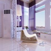 简约风格紫色系卧室窗户装饰