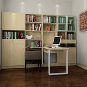 现代简约风格书房书柜设计