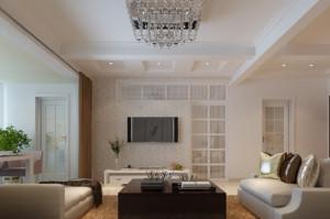 2015现代客厅电视背景墙隐形门图片大全