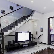 后现代风格深色系楼梯装饰
