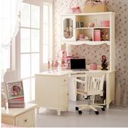 欧式田园风格整体式书柜装饰
