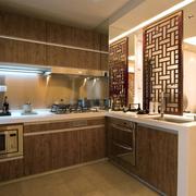 中式清新风格原木橱柜装饰