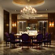 欧式简约餐厅桌椅装饰