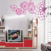 现代风格印花墙贴装饰