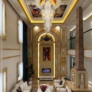 法式风格大型客厅罗马柱