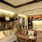 韩式花样客厅沙发背景墙装饰