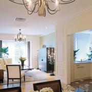 100平米房屋欧式客厅玄关装饰