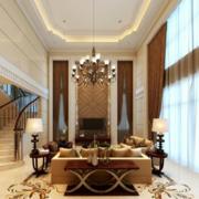 美式简约风格别墅客厅飘窗装饰